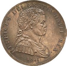 Una rareza del siglo XIX: Henri I de Haití, 1811