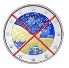 """Francia se rebela contra las """"monedas"""" de 2 euros alteradas con colorines"""