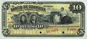 Exposición de los billetes robados a México durante la invasión de Veracruz