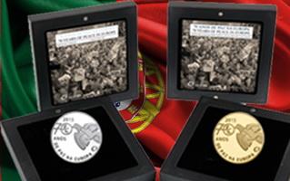 """Portugal se suma a los """"70 Años de Paz en Europa"""" en plata y oro"""