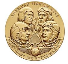 Medallas de oro del Congreso para los ases de la aviación estadounidense