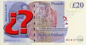 Se busca personaje para el nuevo billete polímero de 20 libras de 2020