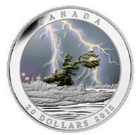 """""""Tormenta de verano"""" canadiense en 20 dólares plata"""