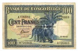 Congo belga 100 Francos 1944