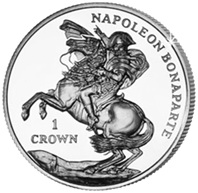 Bicentenario del exilio de Napoleón en Santa Elena, en oro y plata