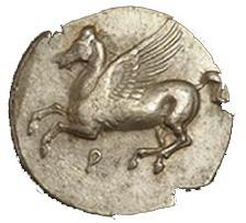 La mitología y la moneda: Corinto