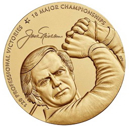 Medalla de Oro del Congreso estadounidense dedicada al campeón de golf Jack Nicklaus