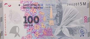 Billete de 100 pesos para las madres y abuelas de la Plaza de Mayo