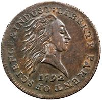 """Subastan un """"Birch Cent"""" de 1792 en más de 1 millón de dólares"""