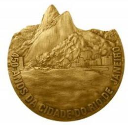 450 Aniversario de la fundación de Río de Janeiro, medalla muy singular