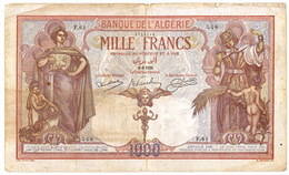 Argelia 1.000 francos 1926