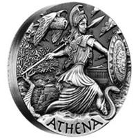 Atenea, diosa de la guerra y de la sabiduría, emitida por Tuvalu