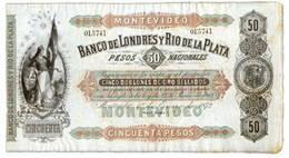 Uruguay 50 Pesos 1872 Banco de Londres y Rio de la Plata