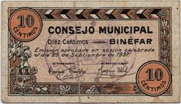 10 Céntimos de Binefar, 3ª emisión