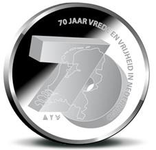 """Países Bajos se suma a los """"70 Años de Paz y Libertad"""" en Europa con una medalla"""