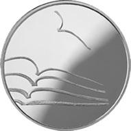 "La ""Literatura"" dentro de la Serie ""Cultura de Lituania"" en 5 euros de plata"