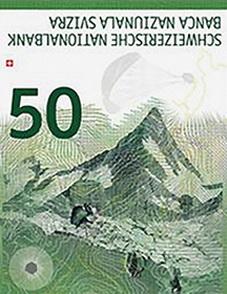 Por fin llegan los nuevos billetes de 50 francos suizos