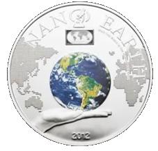 Nano tecnología en 10 dólares plata de las Islas Cook