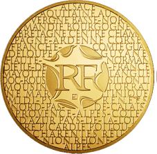 """""""Regiones Francesas"""" en 200 euros de oro"""