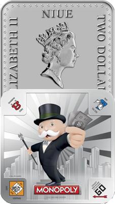 """El """"Monopoly"""" en 1 onza de plata de Niue"""
