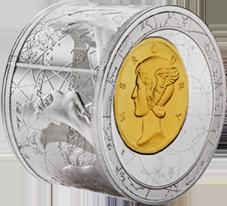¡Lo nunca visto! Una moneda cilíndrica en plata pura