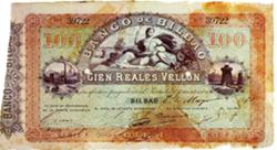 Los bancos provinciales de España y sus emisiones de billetes (II): El Banco de Bilbao