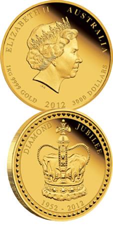 El jubileo de Isabel II en 1 kilo de oro australiano
