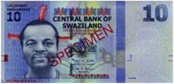 El Banco Central de Suazilandia continúa la actualización de todos sus billetes