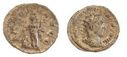Monedas romanas del Siglo III en un barrio de León