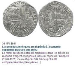 Repercusión de la plata americana en las monedas españolas