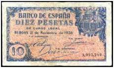 Subasta de Billetes en Galería Filatélica de Barcelona