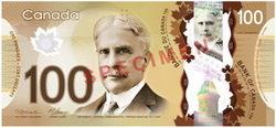 Nuevos billetes polímeros canadienses