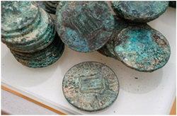 Hallazgo en Tarragona de mil monedas de cobre de la Guerra de la Independencia