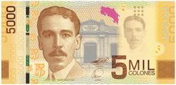 Nuevos billetes de 5.000 colones