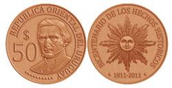 50 pesos uruguayos para conmemorar Bicentenario