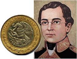 Ignacio Zaragoza en una moneda conmemorativa de la Batalla de Puebla