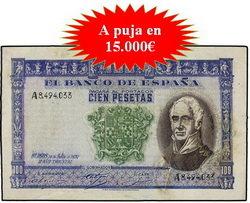 Hervera&Soler y Llach y Segarra subastan billetes y monedas de oro y plata extraordinarias y rarísimas