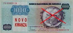 Los nuevos billetes angoleños sin las efigies de sus presidentes