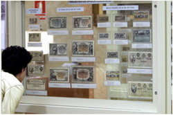 """'Colección de billetes BBVA 1798-2000 (Del real al euro pasando por la peseta)"""""""