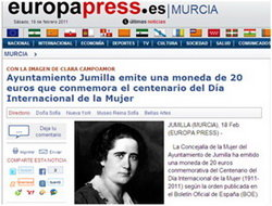 Según Europa Press el Ayuntamiento de Jumilla le hace la competencia a la FNMT-RCM
