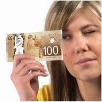 Ya circula el nuevo billete de 100$ canadienses en polímero