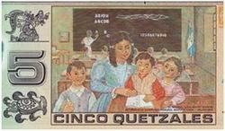 Nuevo billete polímero de 5 quetzales en Guatemala