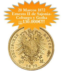 130.000 euros para la moneda más rara del Imperio Alemán