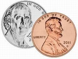 Quieren las monedas de 1 y 5 centavos en acero