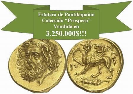 Más de 3 millones de dólares por la estátera de Pantikapaion