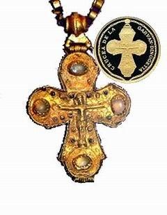 Cruz de Garvan Dinogetia en 10 lei de oro