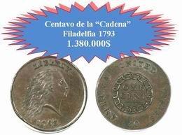 """Subastado el centavo de la """"Cadena"""" de 1793 por más de 1 millón de dólares"""