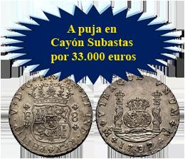 """Extraordinarios lotes de monedas tipo """"duro"""" en Cayón Subastas"""