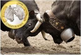 """Moneda bimetálica para la """"Reina de las vacas"""""""