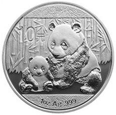 Panda chino 2012 en plata